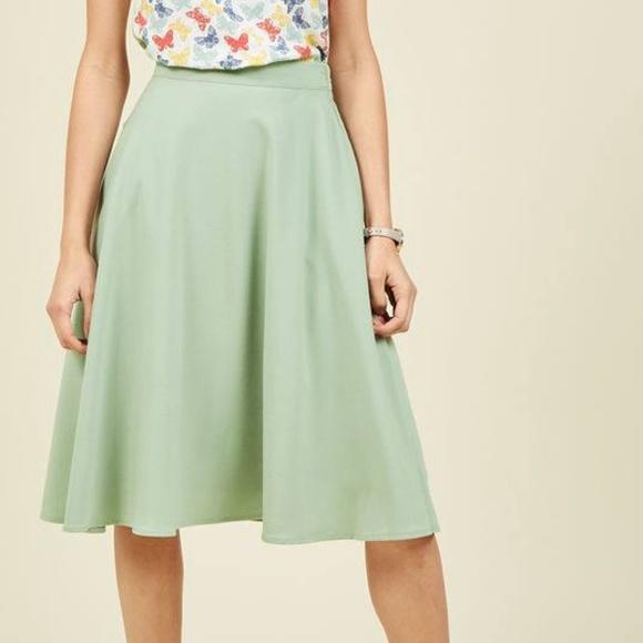 Skirt MIDI Orange MidiSkirt A-line bell skirt jersey Scuba Woman